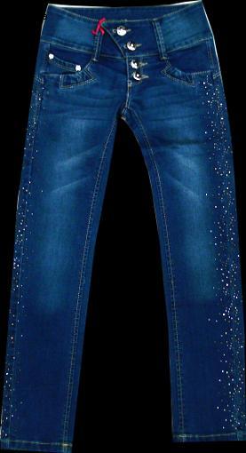 Брюки джинсовые для девочек на пуговицах 116-140см. Код #AR159