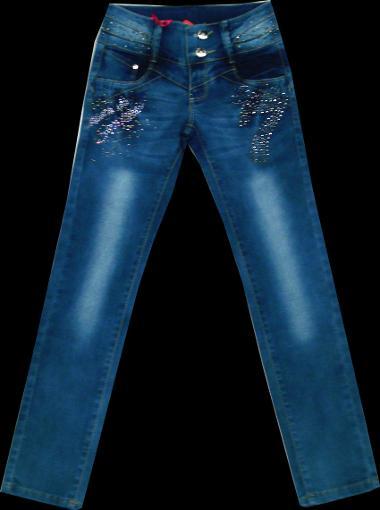 Брюки джинсовые для девочек 116-140см. Код #25267