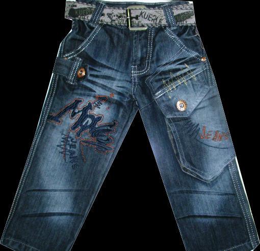 Брюки джинсовые для мальчиков 100-120см. Код #2063