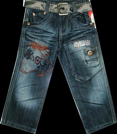 Брюки джинсовые для мальчиков 110-120см. Код #2060