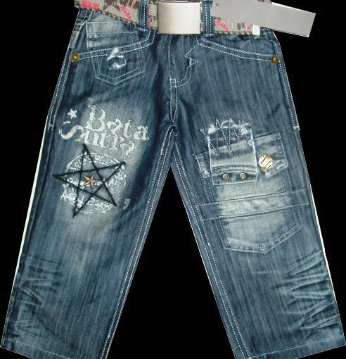 Брюки джинсовые для мальчика Звезда 100-115см. Код #563