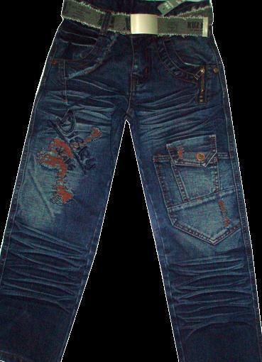 Брюки джинсовые для мальчиков Red 130-160см  Код #1086