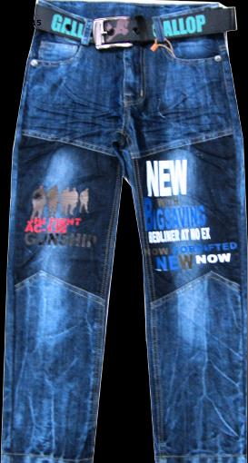 Брюки джинсовые для мальчиков New116-140см. Код #815