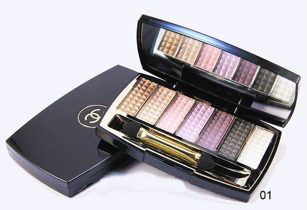 Тени для век 7-ми цветные Chanel №01-06