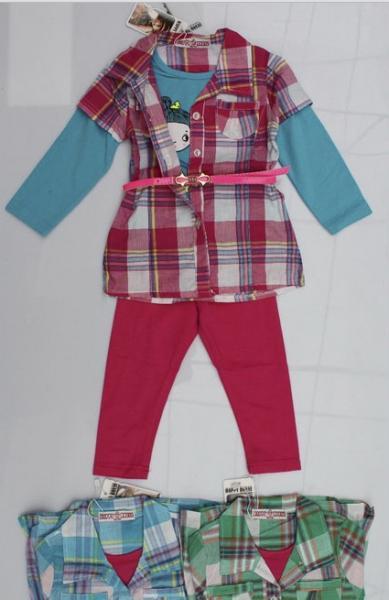 Костюм для девочек с поясом 1,2,3,4,5лет .Код АСС-112