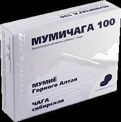 Фото СРЕДСТВА ДЛЯ ВНУТРЕННЕГО ПРИМЕНЕНИЯ  Мумичага 100, таблетки