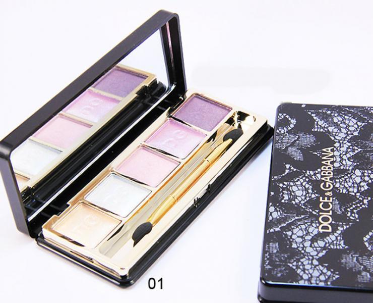Тени для век 5-ти цветные D&G Dolce Gabbana №01-№08