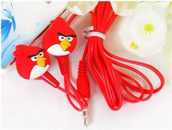 АКЦИЯ!!! Вакуумные наушники Angry Birds