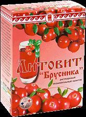"""Литовит - напиток растворимый  """"Брусника""""порошок"""