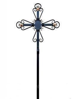 Хрест надгробний кований Крест надгробный кованый