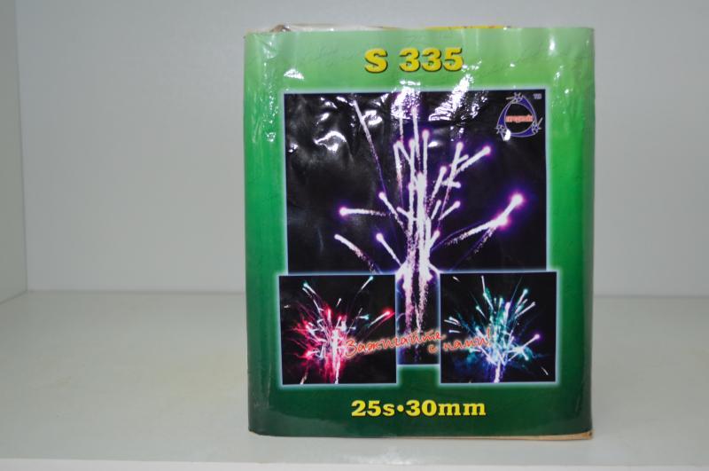 """Фейерверк Салютная установка S335 25S """"Red, Green, Purple Palm """""""