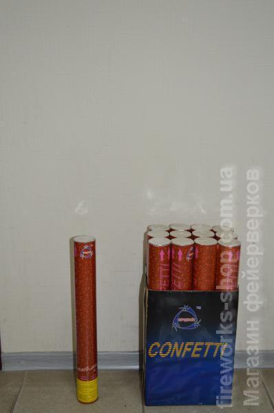 Фото Конфетти хлопушки, Пневмохлопушки Хлопушка PZ C8 D45mm L400mm 7-10m 25g Metalic Red Hearts (8/12)