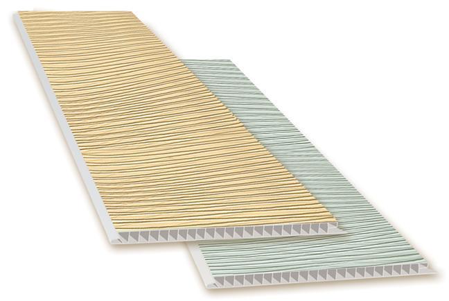 Фото Товара НЕТ в наличии «Волна Песочная»   Ламинированные  пластиковые панели ПВХ   «DECOMAX»