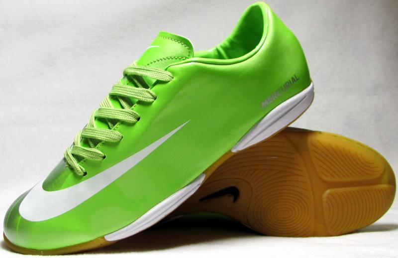 Бампы Nike Mercurial салатово-серебристые