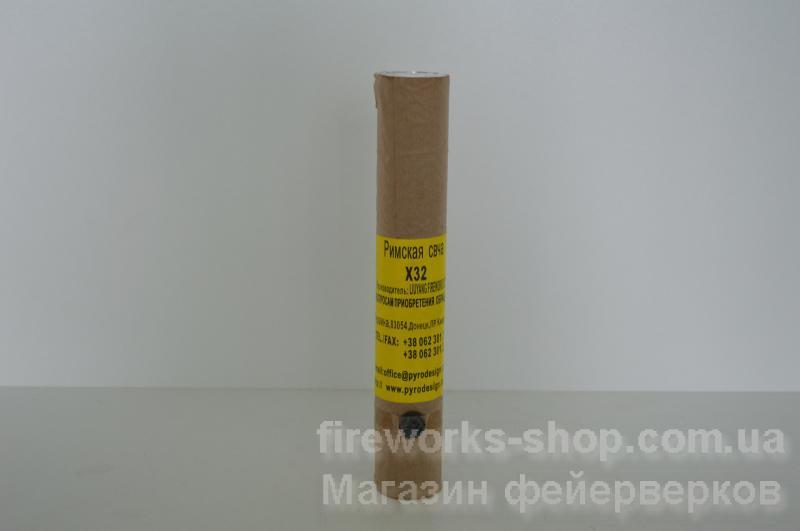 Фото Профессиональная Пиротехника и оборудование, Профессиональные римские свечи и ракеты Римская свеча PA X40 30mm 1S Red Glitter Tail (100/1)