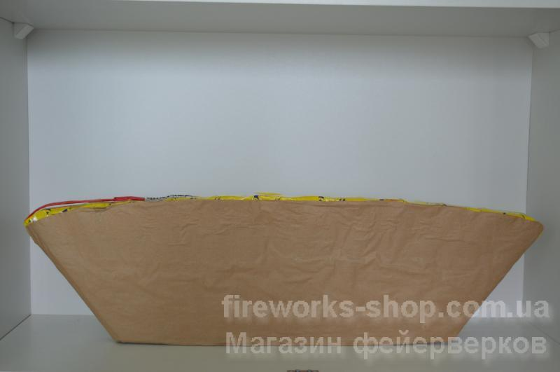 Фото Профессиональная Пиротехника и оборудование, Профессиональные веера и зетки Салютная установка PG S808 30mm 13S Red Wave With Blue Bouquet W (10/1)