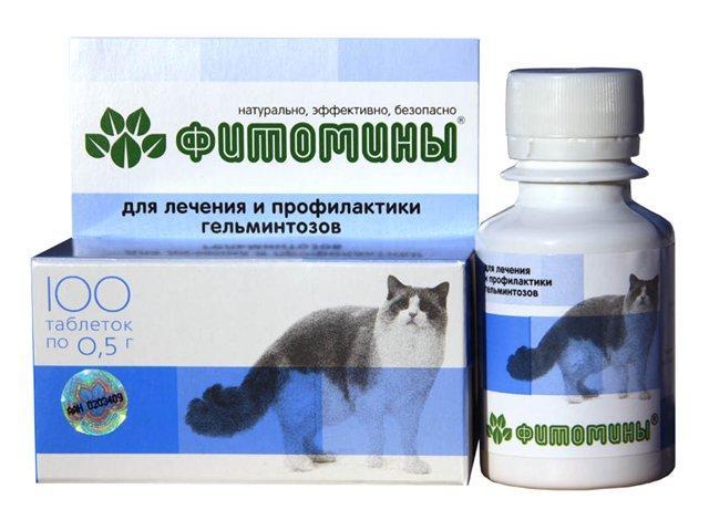 Фитомины с антигельминтным фитокомплексом для кошек