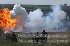 Фото Профессиональный фейерверк, Реконструкция боевых событий. Реконструкция битв и военные игры.