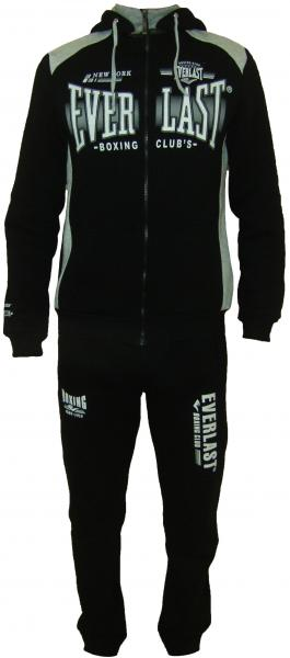 Спортивный костюм 11012 на байке (чёрный с серым)