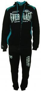 Фото Вся спортивная мужская одежда, Мужские спортивные костюмы Спортивный мужской костюм 11014 на байке (чёрный с бирюзой)