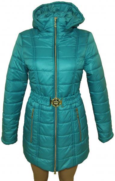 Пальто женское 24022 осень-зима (бирюза) (размеры 40-46)