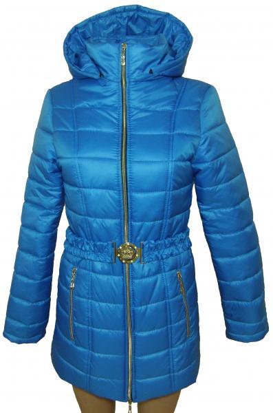 Пальто женское 24023 осень-зима (голубой) (размеры 40-46)