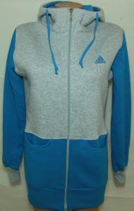 Фото Вся спортивная женская одежда Кофта длинная на байке 21081 (голубая)