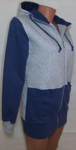 Фото Вся спортивная женская одежда Кофта длинная на байке 21083 (тёмно-синяя)