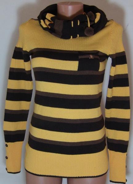 Кофта с шарфом 23013 (только 44,46 и 48р) (цвет ярче чем на фото,более насыщен)
