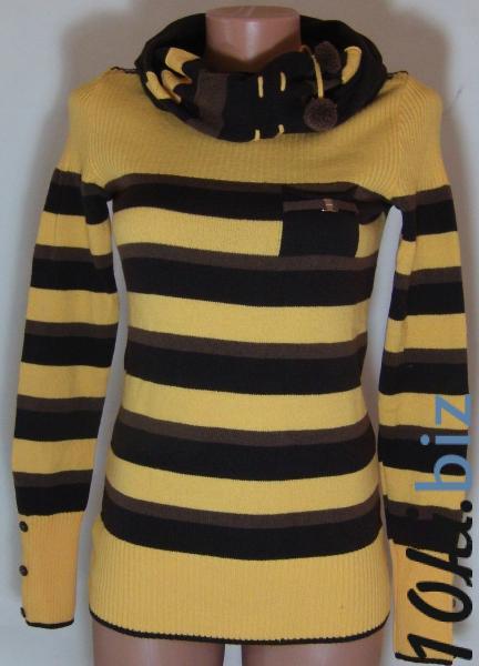 Кофта с шарфом 23013 (только 44,46 и 48р) (цвет ярче чем на фото,более насыщен) купить в Воронеже - Женская трикотажная одежда