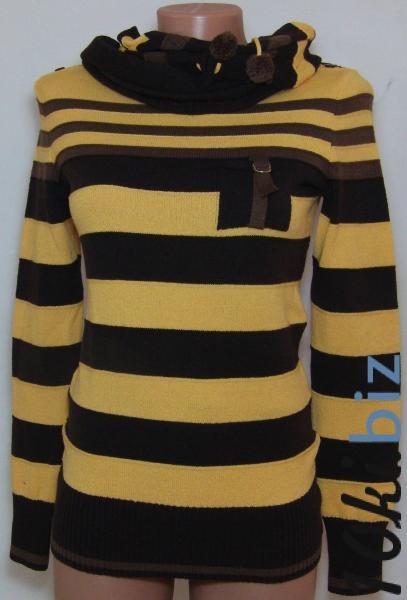 Кофта с шарфом 23014 (только 42,44р) (цвет ярче чем на фото,более насыщен) купить в Воронеже - Женская трикотажная одежда