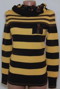 Фото Женский трикотаж (платья, кофты, туники) Кофта с шарфом 23014 (только 42,44р) (цвет ярче чем на фото,более насыщен)