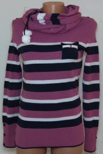 Фото Женский трикотаж (платья, кофты, туники) Женская кофта с шарфом 23015 (только 42,44 и 48р.)