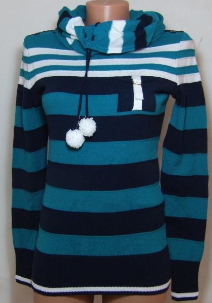 Женская кофта с шарфом 23016