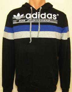 Фото Вся спортивная мужская одежда Мужская спортивная кофта с капюшоном 11030 (только Л и ХЛ)