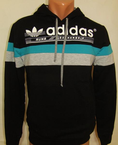 Спортивная мужская кофта с капюшоном 11031 (только Л и ХЛ)