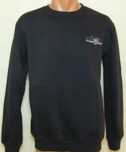 Фото Вся спортивная мужская одежда Кофта мужская 11038 на байке (тёмно-серая) (только 50р )