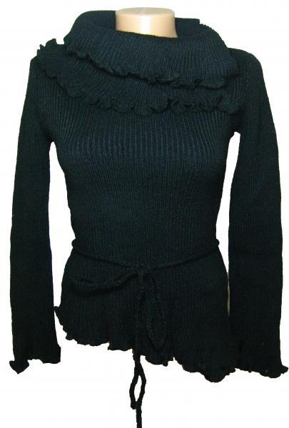 Кофта женская черная трикотажная 23020