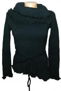 Фото Женский трикотаж (платья, кофты, туники) Кофта женская черная трикотажная 23020