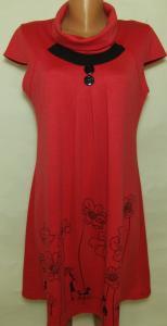 Фото Женский трикотаж (платья, кофты, туники) Туника женская 23028 (цвет коралл )