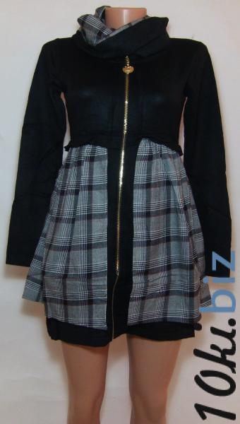 Женское трикотажное платье 23038 (двусторонний ,съемный воротник-хомут)