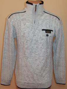 Фото Мужской трикотаж Мужской зимний свитер 12010 (белый меланж)