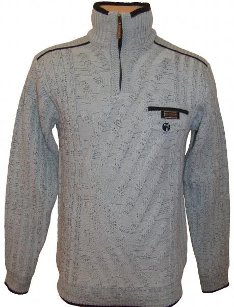 Мужской зимний свитер 12011 (серый)