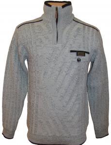 Фото Мужской трикотаж Мужской зимний свитер 12011 (серый)