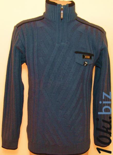 Мужской зимний свитер 12012 (тёмно-синий) купить в Воронеже - Женская трикотажная одежда