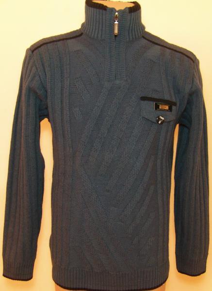 Мужской зимний свитер 12013 (тёмно-серый)