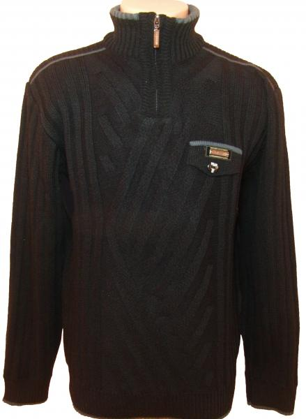 Мужской зимний свитер 12014 (чёрный)