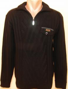 Фото Мужской трикотаж Мужской зимний свитер 12014 (чёрный)
