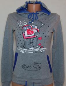 Фото Вся спортивная женская одежда Кофта спортивная с капюшоном 21097 (только 46р)