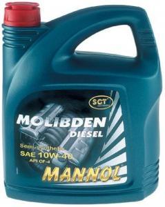 Фото Масла импортные , MANNOL   MANNOL молибден бензин 4л,10W40, п/синт.